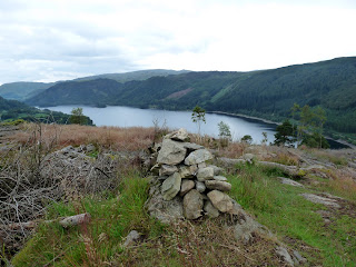 Thirlmere from the second summit cairn of Great How.
