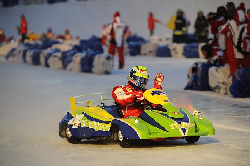 Фелипе Масса - картинговая гонка по льду на Wrooom 2013