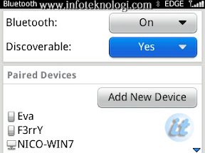 Cara setting bluetooth di blackberry