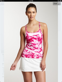 STyle Athletics NUX ACtivewear tie die pink white tank top