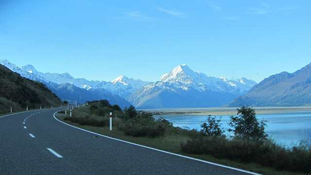 Approaching Glentanner and Mt. Cook.