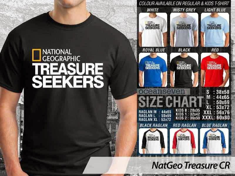 Kaos National Geographic NatGeo Treasure distro ocean seven