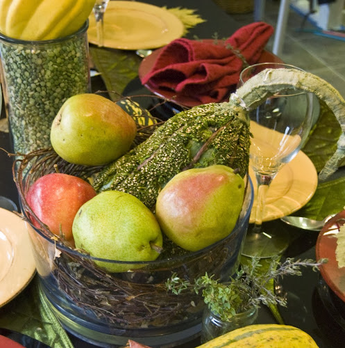 Pear Centerpiece, Thanksgiving