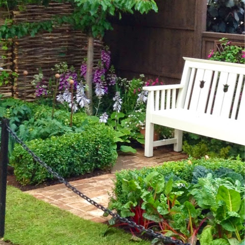 Petite Potagere in the 'Hedgehog Street' Garden by Tracy Foster -  RHS Hampton Court Flower Show 2014 - Photo by Noemi Mercurelli