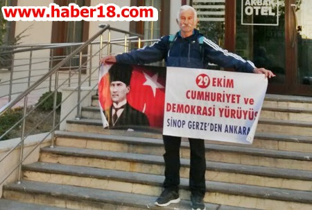 29 Ekim Cumhuriyet ve Demokrasi  Y�r�y���ne ��kt�. �ank�r� dan Ge�ti
