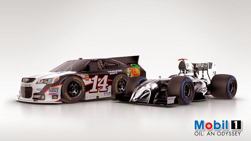 машина Тони Стюарта NASCAR и McLaren Дженсона Баттона - Tooned 2014