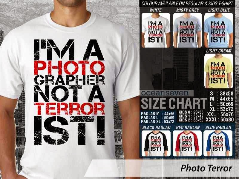 Kaos Photography Mania Photo Terror distro ocean seven