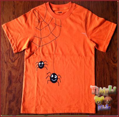 Áo Gymboree bé trai việt nam xuất khẩu, màu cam hình nhện.