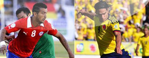 Chile vs. Colombia en VIVO - Eliminatorias Brasil 2014