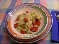 Trofie Carciofi e Pomodorini