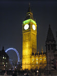 Big Ben and the Eye at night