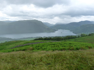 Ullswater in the rain from Bracken How