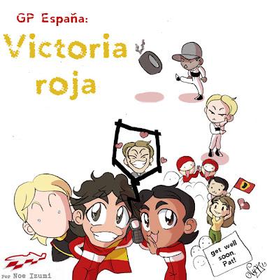 анимешная картинка Noe Izumi по Гран-при Испании 2013