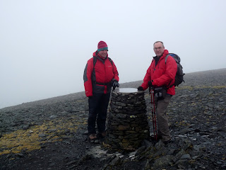 Andrew and David on Skiddaw