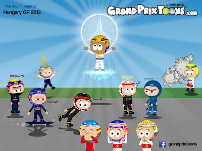 второе пришествие Льюиса Хэмилтона на Гран-при Венгрии 2013 - комикс Grand Prix Toons