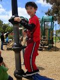 Eidan at the Balboa Park playground