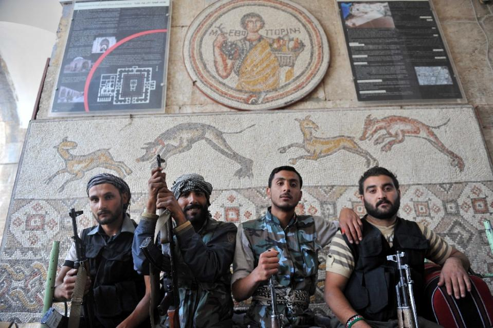 Famed Syria mosaic museum damaged in barrel bombing