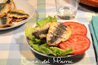 Sardines dobles a la chermoula