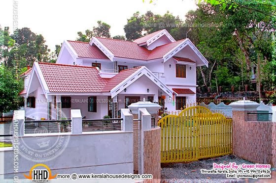 Completed house in Kerala