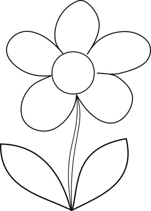 Flowers Coloring Pages Print Flowers Pictures to Color at  - pictures of flowers coloring pages