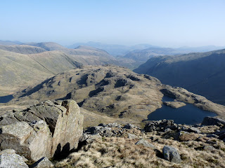The hummocky top of Seathwaite Fell (which we would visit later) along with Sprinkling Tarn.
