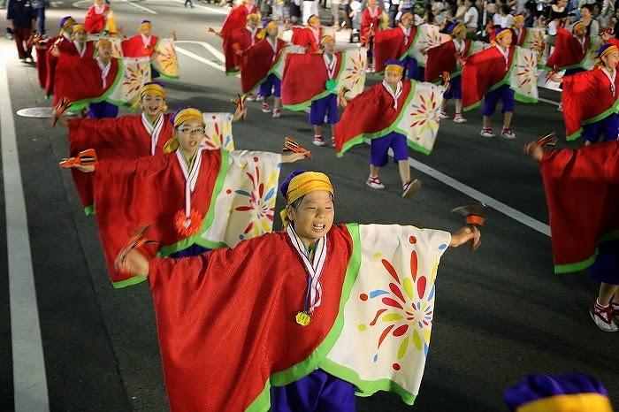 第60回よさこい祭り☆本祭2日目・升形地域競演場38☆上2目2638