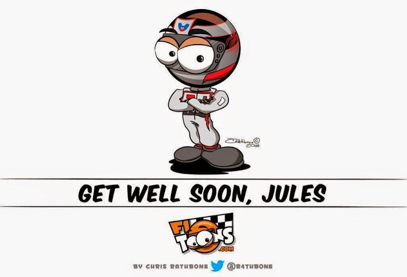 Get well soon Жюль Бьянки - комикс Chris Rathbone