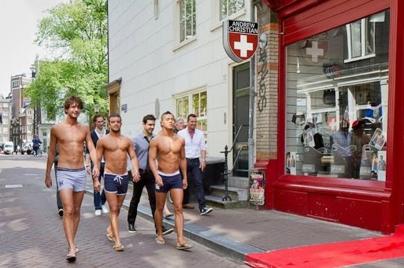 Andrew Christian Models in Their Underwear, in Amsterdam!