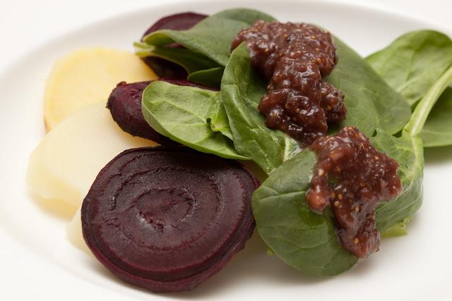 Autumn root salad