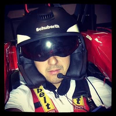 Фелипе Масса в симуляторе Ferrari 22 января 2013