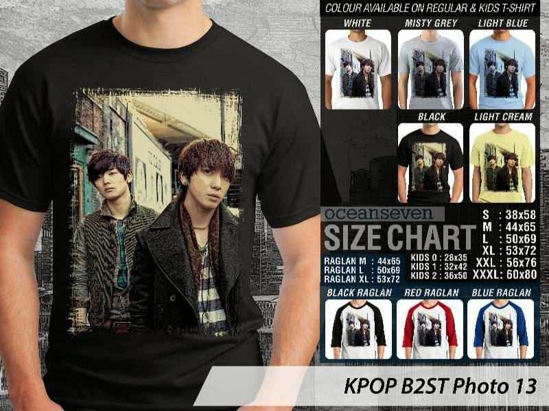 Kaos B2st 13 Photo K Pop Korea distro ocean seven