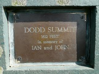 Plaque on Dodd Summit