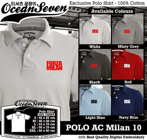 POLO AC Milan 10 Liga Italia distro ocean seven