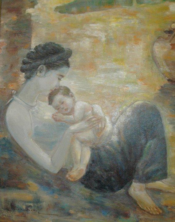 Bộ ảnh Mẹ ru con ngủ thật đẹp, ý nghĩa