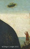 madonna con bambino, dettaglio ufo