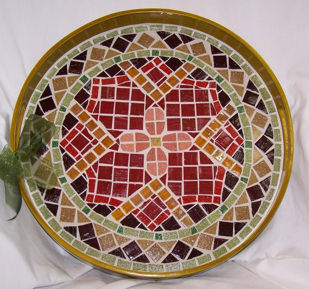 Mosaic Holiday Serving Trays