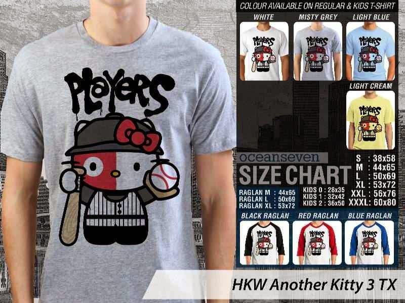 Kaos kartun lucu Another Hello Kitty 3 distro ocean seven