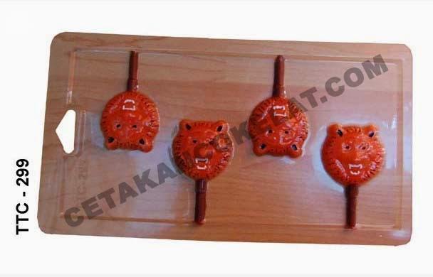 Cetakan Coklat TTC299 cokelat harimau macan