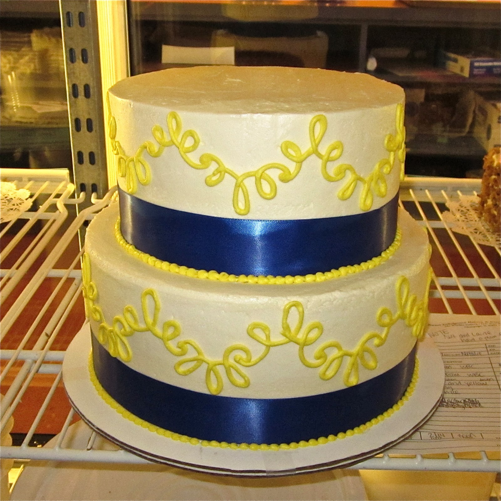 royal blue and yellow wedding