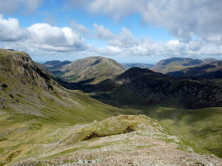 Looking down to Ennerdale from ascent of Great Gable