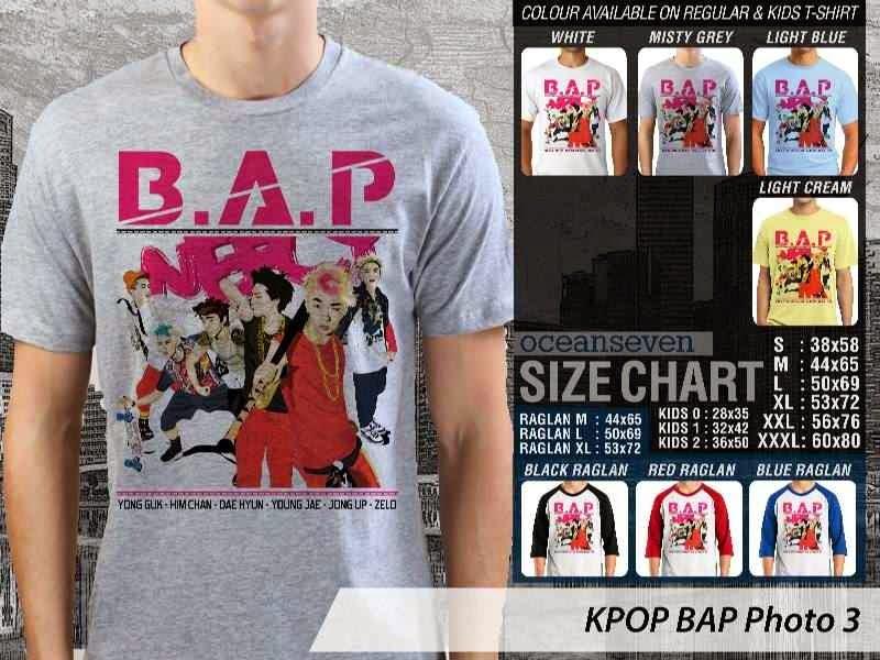 Kaos Bap 3 Photo K Pop Korea distro ocean seven