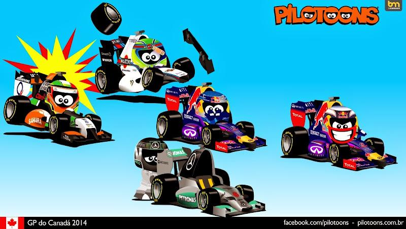 комикс pilotoons по Гран-при Канады 2014
