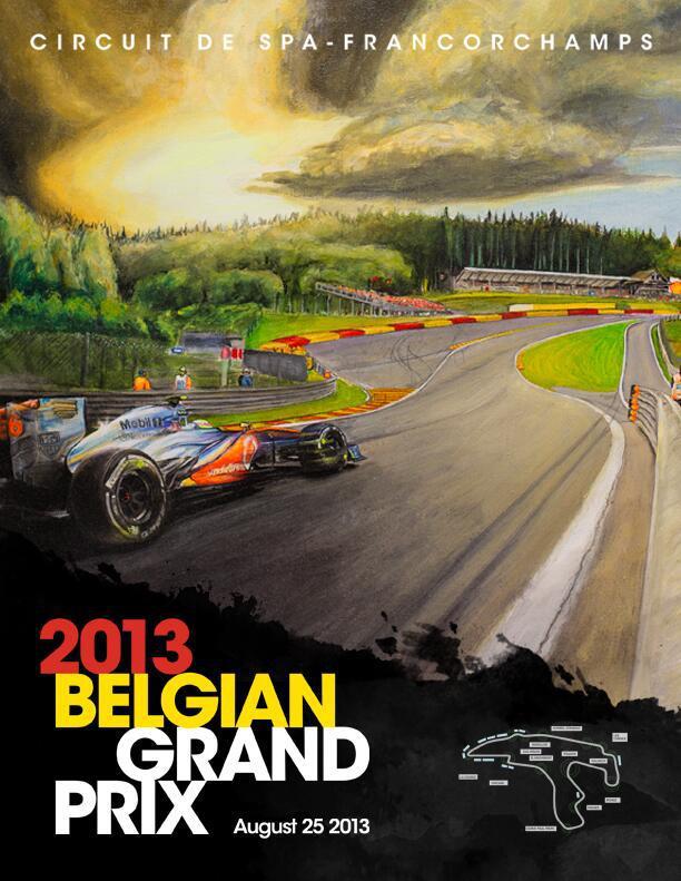 Серхио Перес и McLaren - официальный постер Гран-при Бельгии 2013
