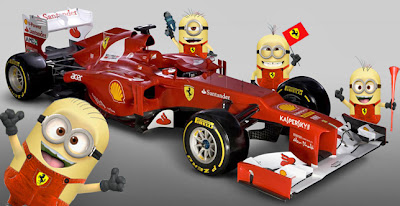 механики Милашки Minions Ferrari F2012 - фотошоп pinnacle racing