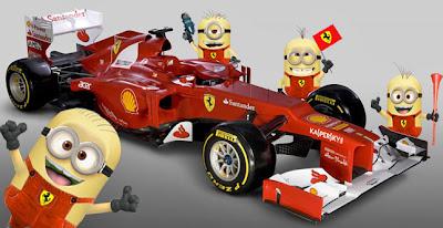 механики Милашки Minions Ferrari F2012 - фотошоп pinnacle racing