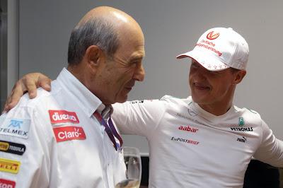 Петер Заубер и Шумахер на Гран-при Кореи 2012