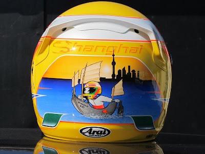 шлем Льюиса Хэмилтона для Гран-при Китая 2012