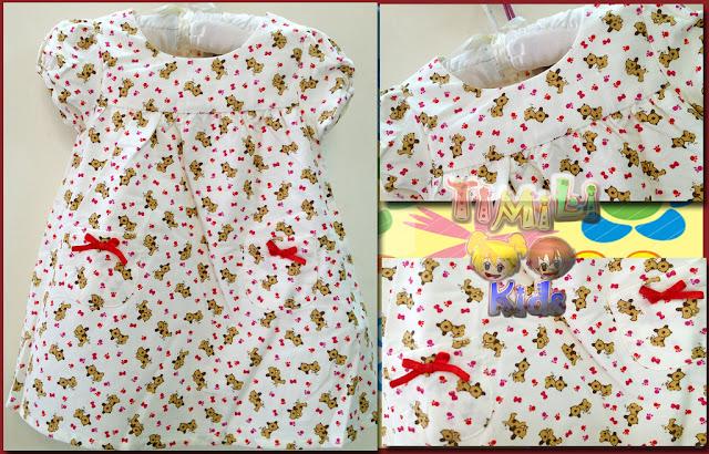 Đầm Noel bé gái, hàng xuất xịn, bị thay mác Ancotidn, made in vietnam, mẫu nơ đỏ.