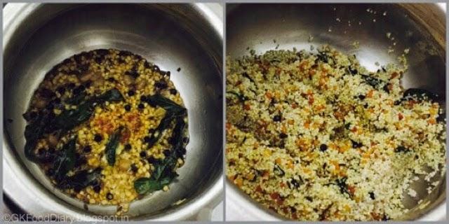 Millet Pongal Recipe (Varagu Pongal / Kodo Millet Kara Pongal) 4