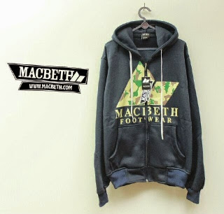 Jaket Macbeth 03 Navy Logo Army